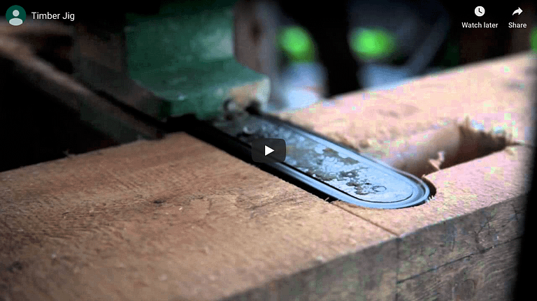 Link to video of Timber Jig version 1 in use.