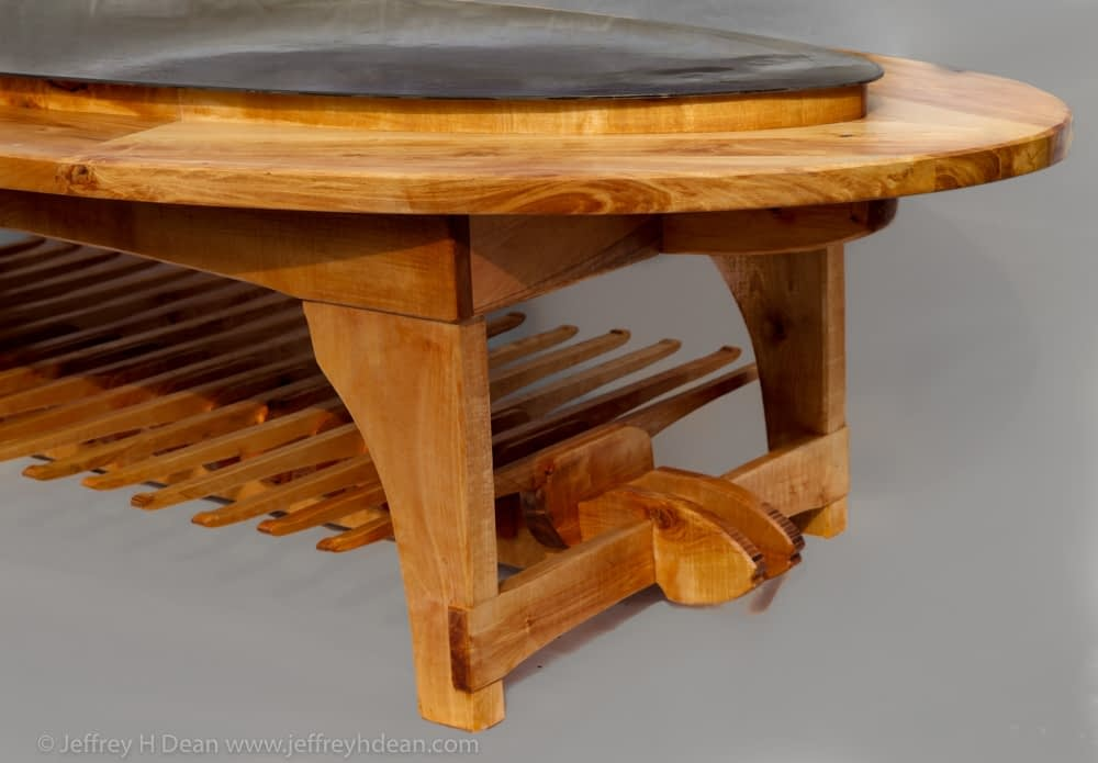 Decorative Coffee Table made for Bear Trail Lodge in the Bristol Bay region of Alaska.
