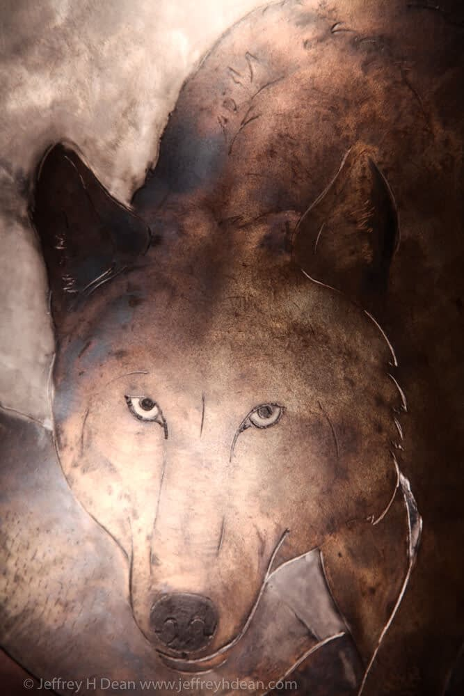 Detail of wolf.
