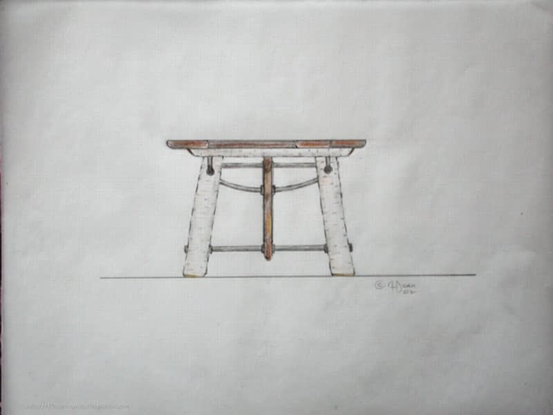 Design idea for a decorative dining room table.