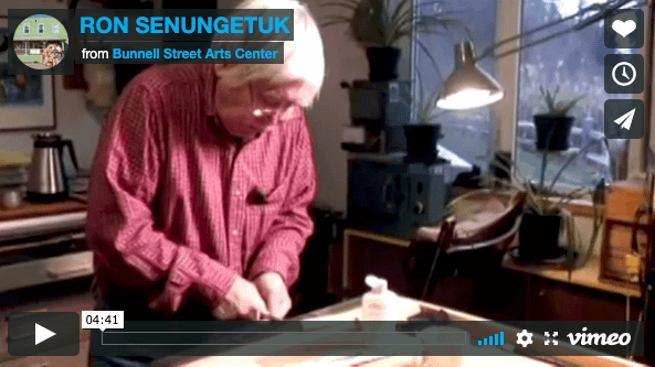 Cover image for video about artis Ron Sengungetuk produced by Bunnell Street Art Center in Homer, AK.