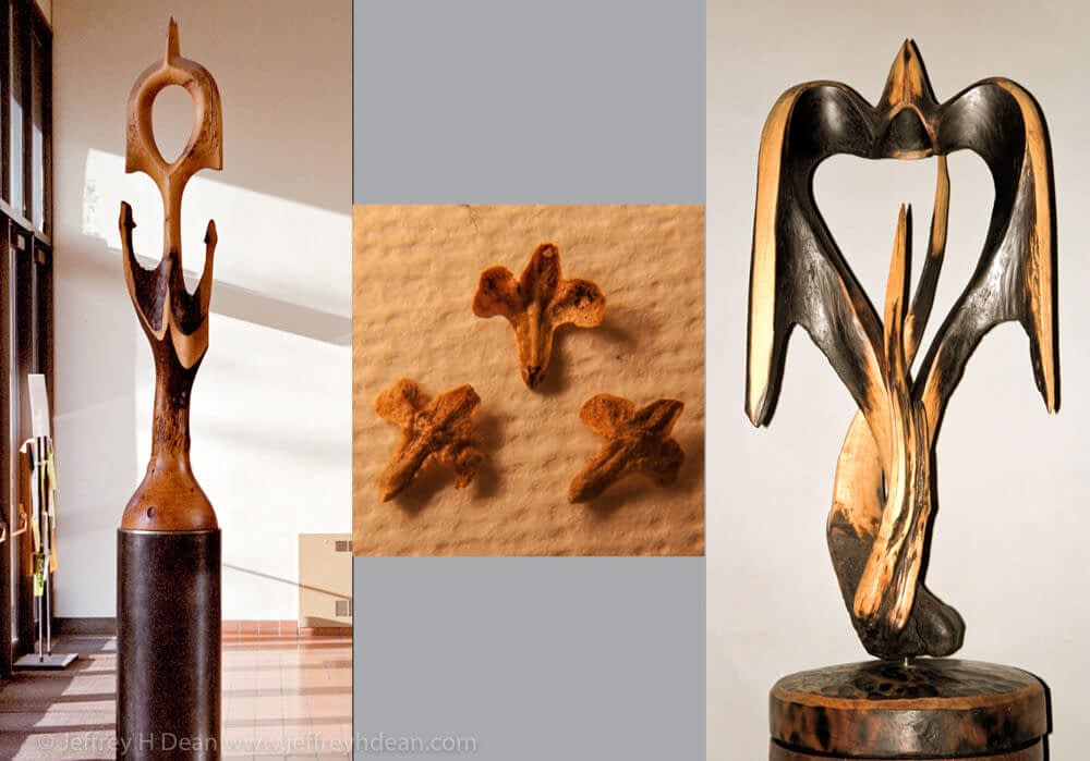 In the 80's I carved several phoenix sculptures inspired by birch seed scales.