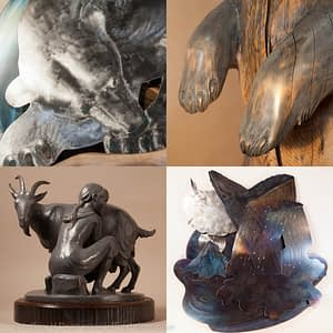 Sampling of Jeff and Ranja Deans sculptures for sale.